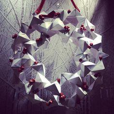 Origami wreath in David Yurman display Photo by @happymundane on Instagram