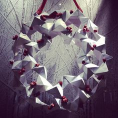 Origami wreath in David Yurman display Photo by @happymundane on Instagram