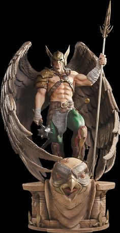 Hawkman statue from Iron Studios. Anime Figures, Action Figures, Comic Books Art, Comic Art, Statues, Hawkgirl, Dc Comics Characters, Sideshow Collectibles, Dc Heroes