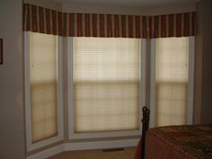 Bay Window Shades | Click on menu above. Then, click on photos to see enlargements.