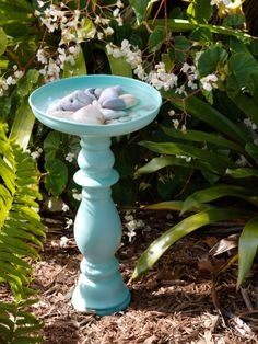 With just $20 in supplies, you can make your own stylish bird bath. #WomansDay