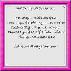 Make yourself wonderful and avail Hair Trenz Salon's weekly specials! #KentsDeals                                                                                                                                                     More