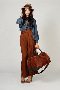 e1a7f64727da vintage 80s giant Leather WEEKENDER bag tote by TinRoofVintage