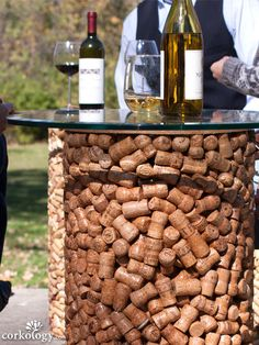 Champagne Cork Stopper Patio Table