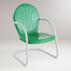 One of my favorite discoveries at WorldMarket.com: Green Durresi Metal Chair