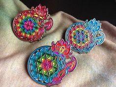 Flower of Life Dreamcatcher Pin Grateful Phish Pretty Lights Bassnectar Weed   eBay