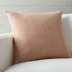 Hand-dyed yarns composed of a rustic blend of cotton and jute in a textural herringbone that reads neutral with a kiss of orange. Our decorative pillows include your choice of a plush feather-down or lofty down-alternative insert at no extra cost.<br /><br /><NEWTAG/><ul><li>78% cotton and 22% jute</li><li>On-seam zipper</li><li>Knife-edge tailoring</li><li>Machine wash cold on gentle, dry flat; warm iron as needed</li><li>Made in multiple countries</li></ul><br />