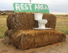 Next time you're driving through Hazard, Nebraska and you just can't hold it anymore look for this sign.