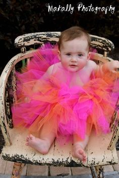Sherbert Tutu  Infant on up by SpoiledSweetkids on Etsy, $15.00