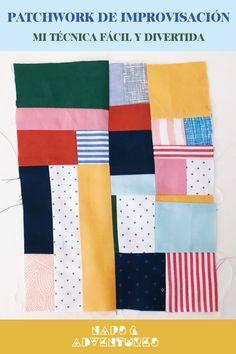 Post en el blog sobre mi técnica autodidacta de patchwork de improvisación. Aprende a reutilizar todos tus retale, sin reglas y de manera divertida Mood Boards, Patches, Quilts, Blanket, Deco, Blog, Scrappy Quilts, Pretty Quotes, Hipster Stuff