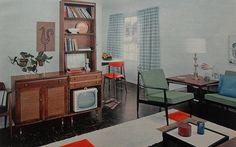 1950s Modern Bold Solid Color Vintage Interior Design Photo 2 by Christian Montone, via Flickr