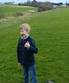 Dad and Son Pull out Loose Tooth With a Helicopter: That's one way to remove your tooth. Parenting done right!!!