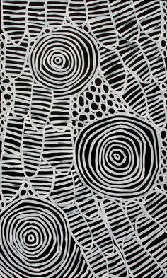 Aboriginal Artwork by Raelene Stevens. Abstract Pattern, Pattern Art, Aboriginal Dot Painting, Black And White Painting, Tribal Patterns, Australian Art, Indigenous Art, Elements Of Art, Native Art