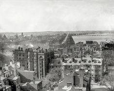 "Circa 1904. ""Boston, Massachusetts. Back Bay from the State House dome."" Shorpy Historic Picture Archive"