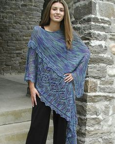 S2013e Bella - Shawl with the ease of a poncho - PDF...7.95