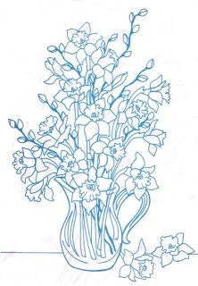 Suestreehouse: Flowers In a Pitcher to Embroider