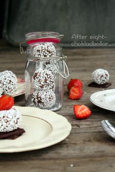 After eight- chokladbollar | Fridas bakblogg