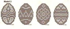 Lots of diagrams for adorable Easter/Spring lace doilies, baby blankets, etc. Filet Crochet, Diy Crochet And Knitting, Embroidery Patterns, Knitting Patterns, Crochet Patterns, Knitting Charts, Lace Doilies, Crochet Doilies, Cross Stitch Kitchen