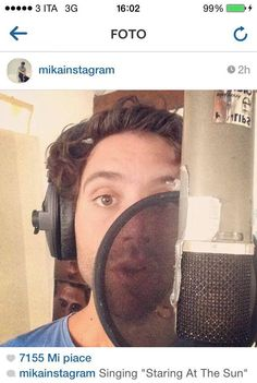 "Mika singing ""Staring At The Sun"" - via instagram"