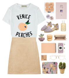 """""""Life is peachy"""" by child-of-the-tropics ❤ liked on Polyvore featuring Hanky Panky, Être Cécile, Lizzie Fortunato Jewels, Eyevan 7285, New Look, MICHAEL Michael Kors, Comodynes, Fresh, Topshop and Muji"""