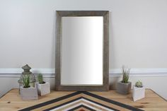 Reclaimed Wood Mirror Weathered Pine by ReachandGrow on Etsy