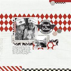 """""""Steak N Shake"""" by Chastml, as seen in the Club CK Idea Galleries. #scrapbook #scrapbooking #creatingkeepsakes"""