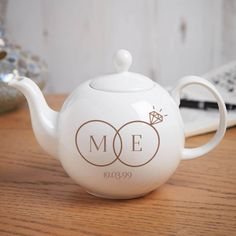 Beautiful premium quality personalised gifts to celebrate a traditional 'china wedding' anniversary. 20th Wedding Anniversary Gifts, Personalized Anniversary Gifts, Anniversary Gift For Her, Couple Gifts, Tea Pots, Perfect Couple, Wedding Rings, China, Shape