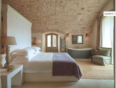 Masseria Petrarolo is a Wedding Venue in Puglia, Italy. See photos and contact Masseria Petrarolo for a tour. Farmhouse Architecture, Home, Home Bedroom, House Styles, Bedroom Interior, Beautiful Bedrooms, Interior Design, House Interior, Home Deco