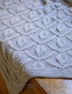 #218 Pendants Blanket. Gorgeous texture with 3 sizes included in pattern.