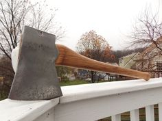 Council 4lb Jersey Axe on a new 27 inch handle of American Hickory by AppalachianAxeworks on Etsy