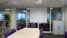 Installation of partitioning systems to create a new private office and presentation space. Additional upgrades inc. the #refurbishment of a #kitchen tea-point area and boardrooms at Monarch's #Luton Airport offices...