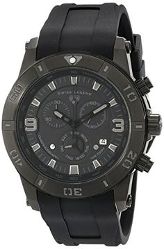 Men's Wrist Watches - Swiss Legend Mens 10164BB01GRYA Everest Analog Display Swiss Quartz Black Watch * Click image for more details.