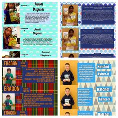 Technology Tailgate-bookmarks made by students using PicCollage app to show persuasive writing.