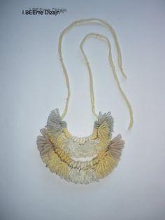 #ibeemedesign #handmade #woolnecklaces Gold Necklace, Necklaces, Wool, Handmade, Jewelry, Design, Fashion, Jewellery Making, Moda