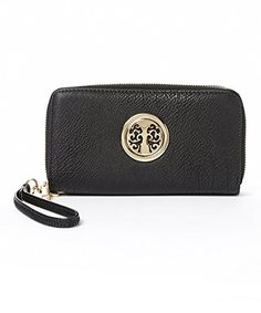 MKF Collection Icona Full-Zip Wallet with Wrist Strap