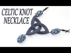 Beaded Cletic Knot necklace - CRAW Celtic Knot with beads - Cubic RAW necklace - YouTube