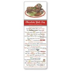 Yule Log Recipe Towel Retro Recipes, Old Recipes, Cookbook Recipes, Sweet Recipes, Real Food Recipes, Recipies, Dish Towels, Tea Towels, Recipe Sheets