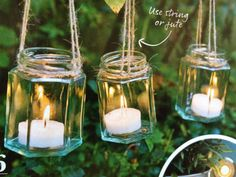 Jam jar fairy lights