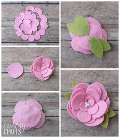 How to make felt flowers.