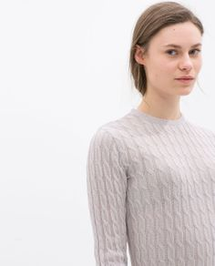 ZARA - NEW THIS WEEK - ORGANZA CABLE SWEATER