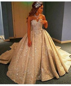 Gorgeous wedding gown with detachable ball gown skirt.