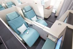 Korean Air Announces Prestige Suites in Business Class Korean Airlines, Air Seat, Air One, Aircraft Interiors, National Airlines, Luxury Private Jets, New Aircraft, Airplane Design, Luxury Services