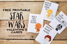 You may have already picked up on this, but my family loves Star Wars. Of course, the new movie that just came out only intensified this love. When I was thinking about what to make for our daughter to hand out on Valentine's Day, of course I had to include my favorite group of heroes and villains. Free Printable Star Wars Valentine's Day Cards I