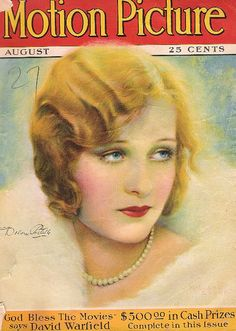 Motion Picture, Aug. 1927. Cover girl is actress Dolores Costello. She was Drew Barrymore's grandmother.