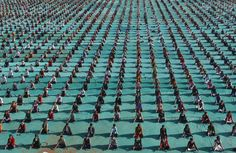 Schoolchildren attend a yoga session at a camp in the western Indian city of Ahmedabad, Jan. 6. Amit Dave / Reuters