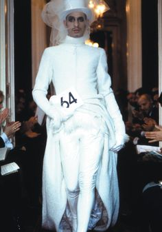 Tanel for Jean Paul Gaultier Fashion Show, The Bride and Groom Ensemble, L'Homme Moderne Collection, photographed by Patrice Stable, Fall/Winter 1996