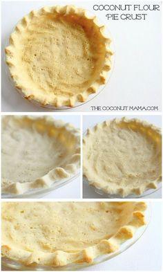 Coconut Flour Pie Crust - Gluten Free & Dairy Free!
