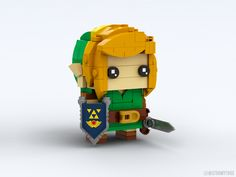 I made this LEGO Link inspired by Link's Awakening! Lego Zelda, Gameboy Games, Disney Star Wars, Cool Lego, Lego Creations, Legend Of Zelda, Legos, Awakening, Nintendo
