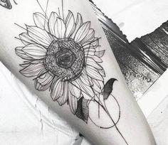 Sunflower tattoo by Fredao Oliveira
