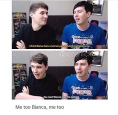 Sorry Phil, Dan curls are freaking cute